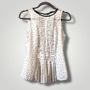 Zara Polkadot Sheer Blouse Size S